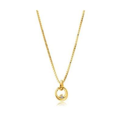 Matthewmark ベビー ダイヤモンド ネックレス サークル ゴールド(K18) ベネチアンチェーン イタリア製chain ギフトBO