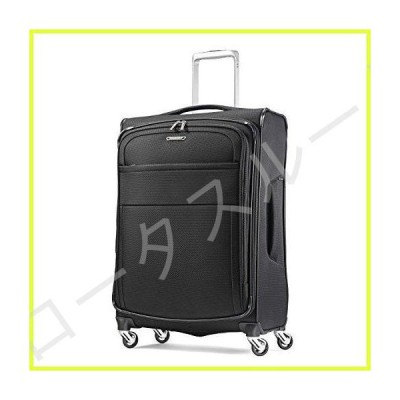 Samsonite Eco-Glide Softside Luggage with Spinner Wheels, Midnight Black, Checked-Medium 25-Inch 並行輸入品