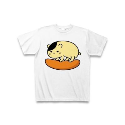 柿の種とピーナッツねこ Tシャツ(ホワイト)