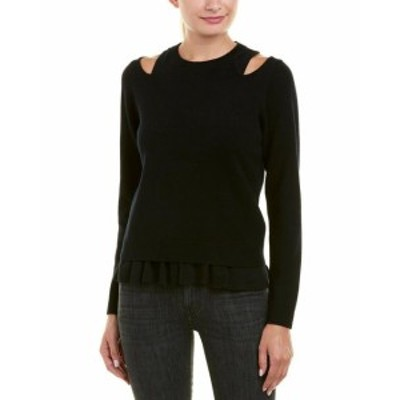 Derek Lam デレクラム ファッション トップス Derek Lam 10 Crosby Layered Wool-Blend Sweater Xs Black