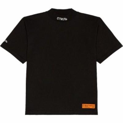 ヘロン プレストン Heron Preston メンズ Tシャツ タートルネック トップス Turtleneck Tee Black