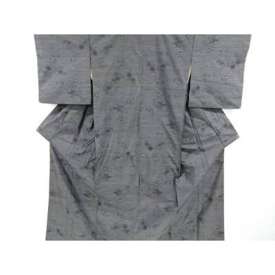 リサイクル 松竹梅菖蒲・絣柄織り出し本場泥大島紬着物