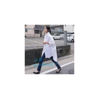 長袖シャツ レディース 長袖 秋新作 BF風 折り襟 シングル シャツブラウス セクシー トップス ゆったり ファッション 薄手 白いシャツ 欧米風 秋物