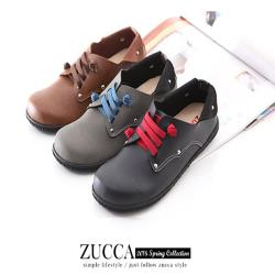 ZUCCA【Z6004】日系穿繩金屬圓點包鞋-駝色/黑色/灰色
