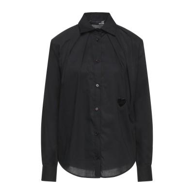 ラブ モスキーノ LOVE MOSCHINO シャツ ブラック 40 コットン 97% / ポリウレタン 3% シャツ