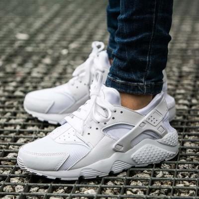 ナイキ エアハラチ Nike Huarache Run  オールホワイト GS レディース ガールズ 【正規品・お取り寄せ】