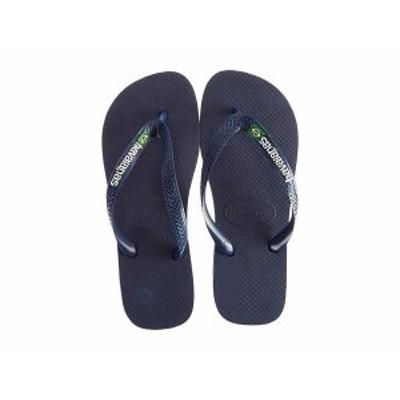 ハワイアナス レディース サンダル シューズ Brasil Logo Unisex Flip Flops Navy Blue