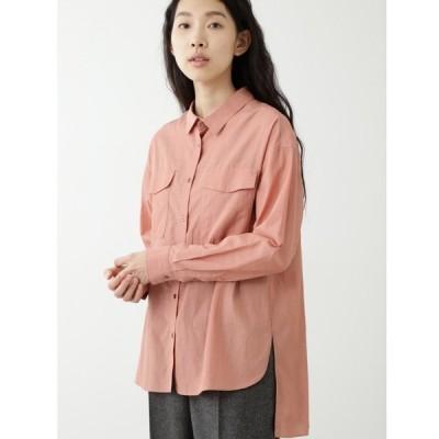 シャツ ブラウス キュプラ綿ブロードシャツ