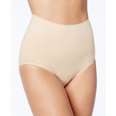バリ Bali レディース ショーツのみ 2点セット インナー・下着 Extra Firm Tummy-Control Seamless Brief Underwear 2 Pack X245 Nude/Nude