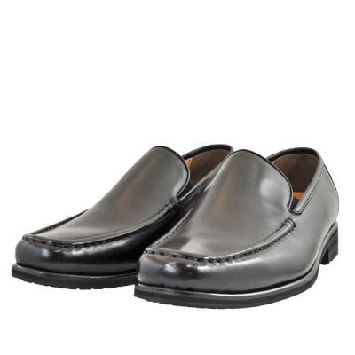 メンズ 靴 ビジネスシューズ カジュアルシューズ マドラス モデロビータ 日本製 バンプ モカシン スリッポン 3E ブラック VT5689BLA