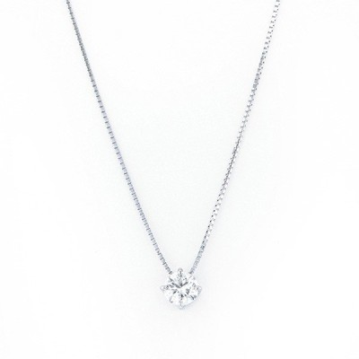 PT プラチナ K18WG ホワイトゴールド ダイヤモンド ネックレス/ペンダント FB