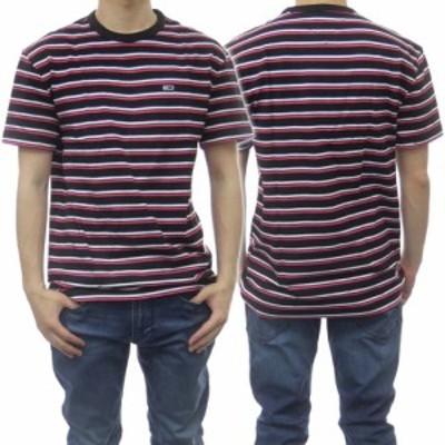 【セール 40%OFF!】TOMMY JEANS トミージーンズ メンズクルーネックTシャツ DM0DM10264 ブラック×ピンク