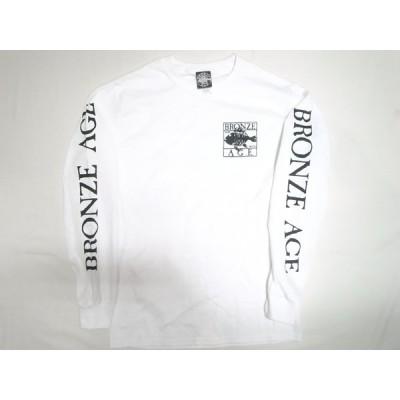 BRONZE AGE ブロンズエイジ SQUARE スクエアフィッシュ ロゴ ロンT 白 ホワイト