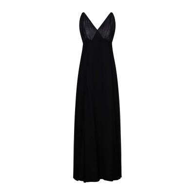 REFORMATION ロングワンピース&ドレス ブラック 6 レーヨン 100% ロングワンピース&ドレス