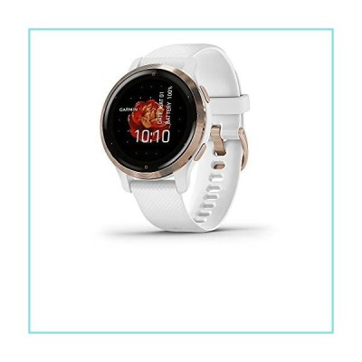 Garmin Venu 2S, Smaller-Sized GPS Smartwatch with Advanced Health Monitoring and Fitness Features, Rose Gold Bezel with White Case and Silic