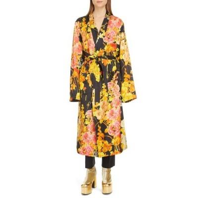 ドリス・ヴァン・ノッテン ワンピース トップス レディース Floral Wrap Long Sleeve Dress Black