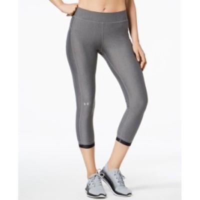アンダーアーマー レディース カジュアルパンツ ボトムス Women's HeatGear Compression Ankle Leggings Charcoal