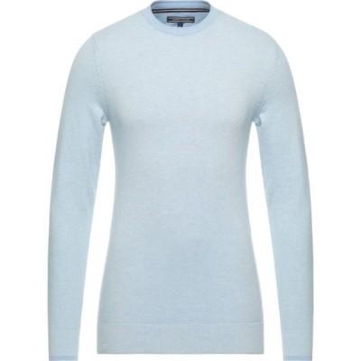 トミー ヒルフィガー TOMMY HILFIGER メンズ ニット・セーター トップス Sweater Sky blue