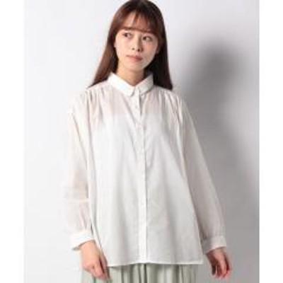 グリーンパークスレギュラーカラーギャザーシャツ
