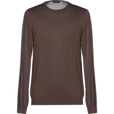 ドルモア DRUMOHR メンズ ニット・セーター トップス sweater Dark brown