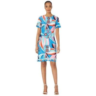 ドナモーガン レディース ワンピース トップス Short Sleeve Printed Jersey Shift Dress