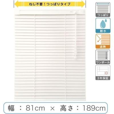 1cm単位 プロ仕様「つっぱりブラインド」幅81cm×高189cm 遮熱・耐水  ctb835T-81x189r68 1セット トーソー(直送品)