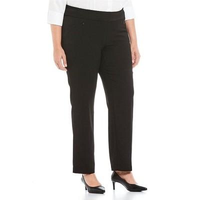 インベストメンツ レディース カジュアルパンツ ボトムス Plus Size the PARK AVE fit Pull-On Straight Leg Pant with Pockets