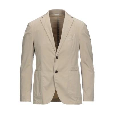 CAMOUFLAGE AR AND J. テーラードジャケット ベージュ 48 コットン 95% / ポリウレタン® 5% テーラードジャケット