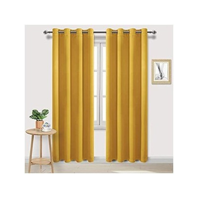 DWCN Blackout Curtains Room Darkening Thermal Insulated Bedroom Curtains Wi