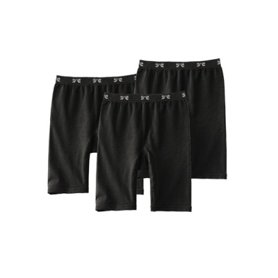 綿混伸びーる3分丈ショーツ3枚組(L~3L) 3分丈・ロング丈ショーツ, Panties