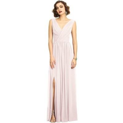 ドレッシーコレクション ワンピース トップス レディース Shirred Chiffon Gown Blush Pink