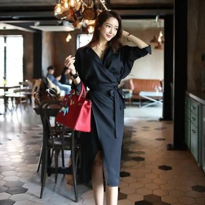 大きいサイズ ワンピース 大きいサイズ ロングワンピース ミモレ丈ワンピース ドレス パーティー パーティードレス 韓国 ファッション 上品 きれいめ ta7119
