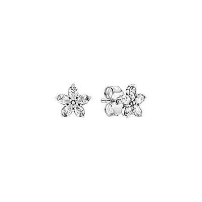 Pandora Snowflakes Earrings 299239C01 woman silver