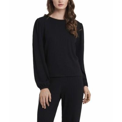 ヴィンスカムート ニット&セーター アウター レディース Long Sleeve Knit Rib Pullover Rich Black