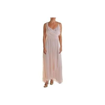 海外セレクション ドレス ワンピース Jill Stuart 4737 レディース ピンク シルク Chiffon Hi-Low Evening ドレス 4 BHFO