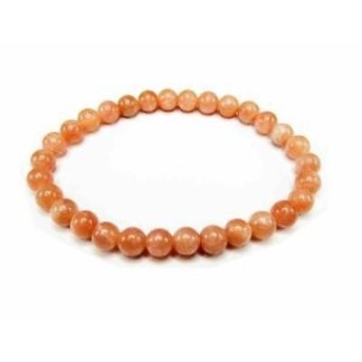 『極美』女性天然石3A濃い目オレンジムーンストーン約6ミリ 数珠ブレスト
