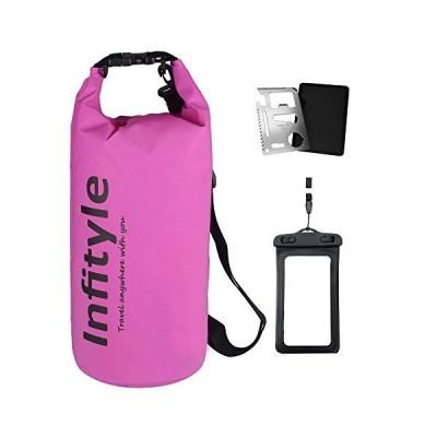 Infityle ドライバッグ フリー防水ポーチ ポケットツール 付 ドラム型 5L 10L 20L 30L(紫,20L)
