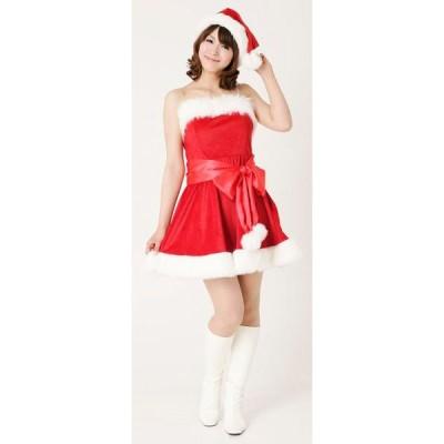 パーティーサンタ レッド【クリスマス衣装・クリスマスグッズ・サンタ衣装・コスチューム】