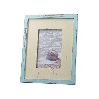 木製フレーム ブルー×ホワイト 30102