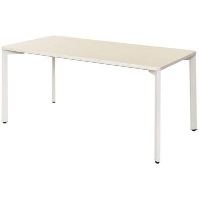 アール・エフ・ヤマカワアール・エフ・ヤマカワ TEO ミーティングテーブル ナチュラル×ホワイト 幅1500×奥行750×高さ720mm 1台