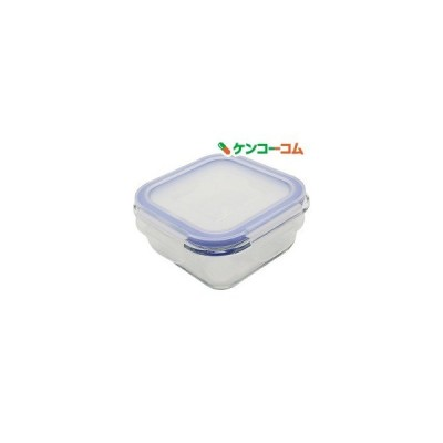 保存容器 耐熱ガラス  パチっとロック スクエア S300 ZB-4913 ( 1コ入 )
