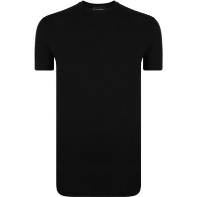 ディースクエアード DSQUARED2 メンズ Tシャツ ロゴTシャツ トップス Back Logo T Shirt Black