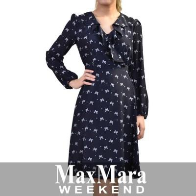 マックスマーラ ウィークエンド ラップワンピース MAXMARA WEEKEND KABALA 52211187 5 ネイビー 入学式