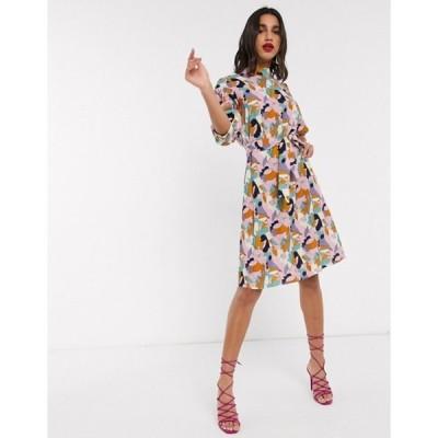 クローゼットロンドン レディース ワンピース トップス Closet mini dress in multi print