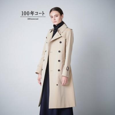 サンヨーコート SANYOCOAT <100年コート>ダブルトレンチロングコート(三陽格子) (ベージュ)