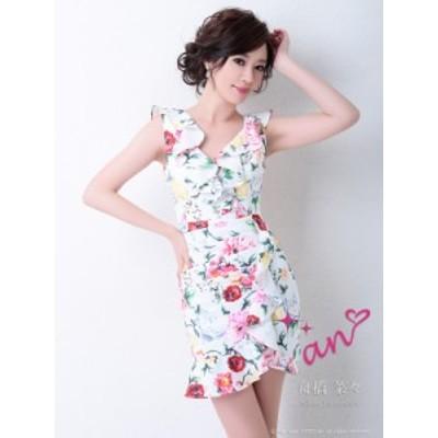an ドレス AOC-2954 ワンピース ミニドレス Andyドレス アンドレス キャバクラ キャバ ドレス キャバドレス