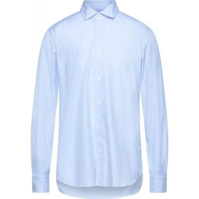 サルヴァトーレピッコロ SALVATORE PICCOLO メンズ シャツ トップス solid color shirt Sky blue