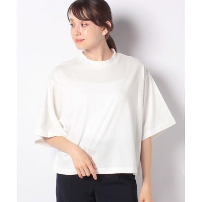 【アルアバイル】 ワイドスリーブハイネックTシャツ レディース ホワイト 02 allureville