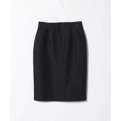 【ランバンコレクション】 小紋柄ジャガードタイトスカート レディース ブラック 38 LANVIN COLLECTION