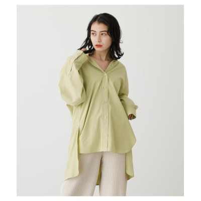 (AZUL by moussy/アズールバイマウジー)COLOR SIMPLE SHIRTS/レディース LIME